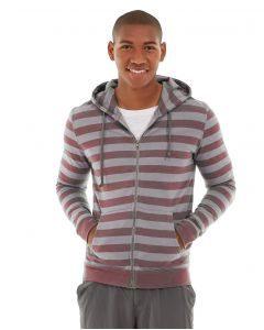 Ajax Full-Zip Sweatshirt -S-Red
