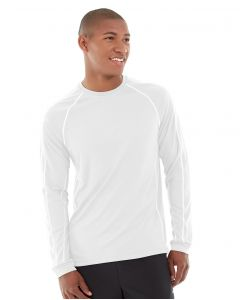 Deion Long-Sleeve EverCool™ Tee-L-White