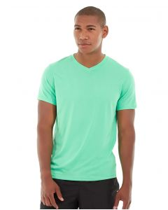 Atomic Endurance Running Tee (V-neck)-L-Green