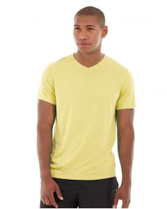 Atomic Endurance Running Tee (V-neck)-M-Yellow