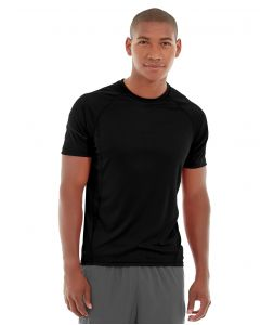 Atomic Endurance Running Tee (Crew-Neck)-M-Black