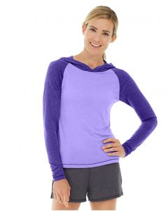 Ariel Roll Sleeve Sweatshirt-L-Purple