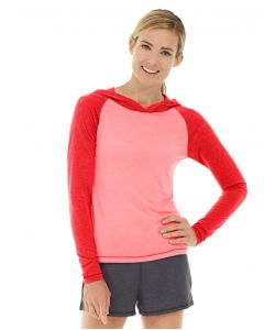 Ariel Roll Sleeve Sweatshirt-L-Red