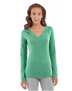 Eos V-Neck Hoodie-M-Green