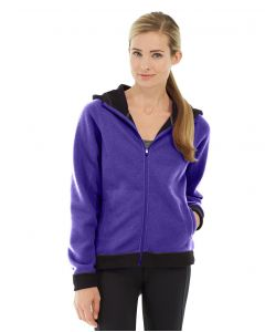 Circe Hooded Ice Fleece-L-Purple