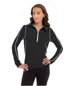Olivia 1/4 Zip Light Jacket-M-Black