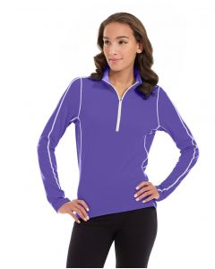 Olivia 1/4 Zip Light Jacket-S-Purple