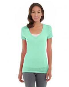 Karissa V-Neck Tee-M-Green