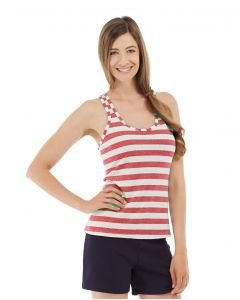 Nona Fitness Tank-L-Red